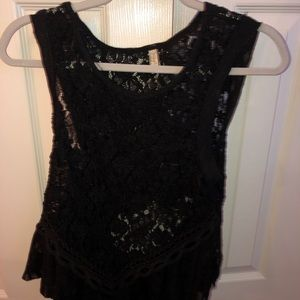Free People Black Top